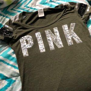 A medium pink shirt